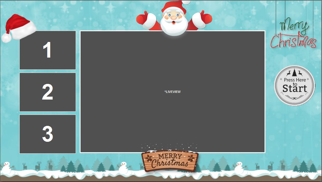 Holiday Print And Screen Templates With Sound For Darkroom Booth